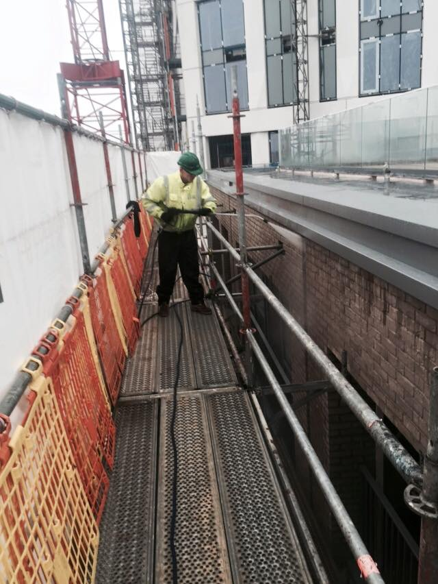 Construction Site Pressure Washing