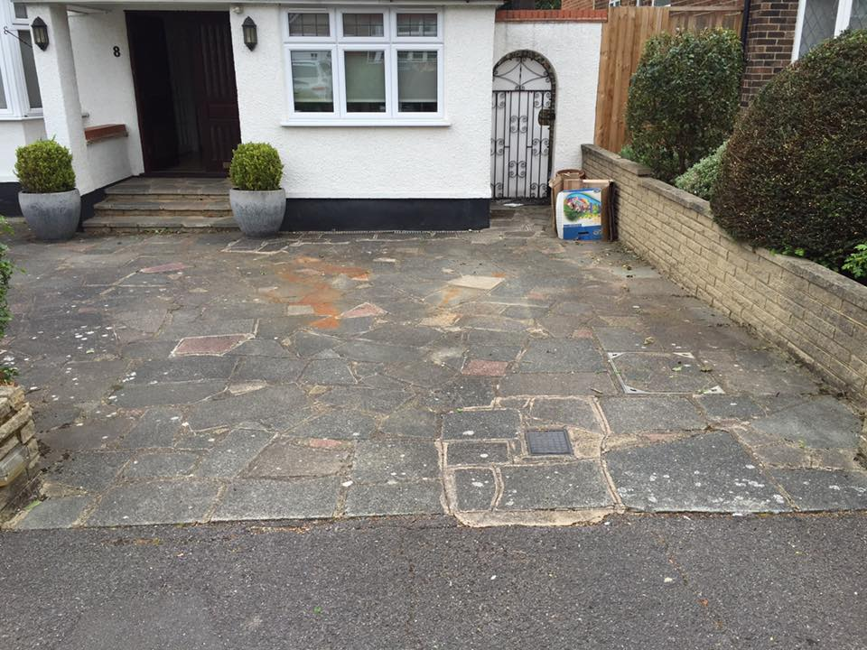Crazy Paving Cleaning before
