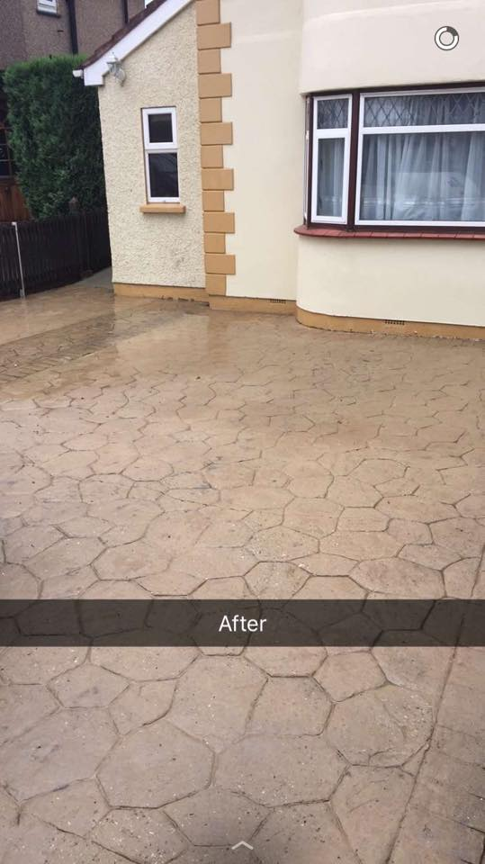 Imprinted Concrete Cleaning After