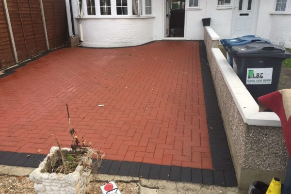 Block paving recoloured